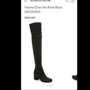 New- Sam Edelman Varona OTK Boot, 8.5